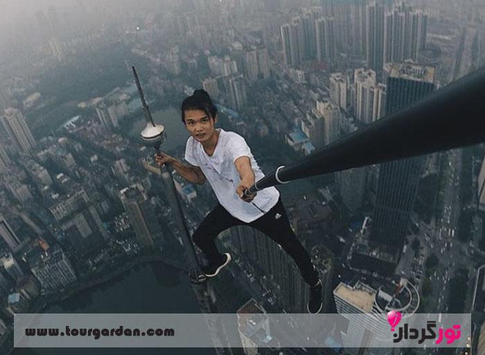سلفی خطرناک Stuntman Wu Yongning