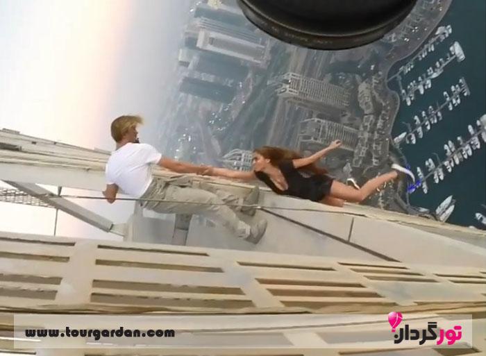 سلفی دختر روس در دبی