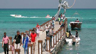 پارک ساحلی سیمرغ کیش و مجسمه معروف آن با آدرس
