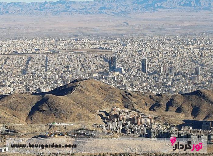 قله زو و بام شهر مشهد