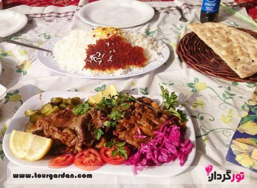 چلو گوشت رستوران حاج حسن شاندیز