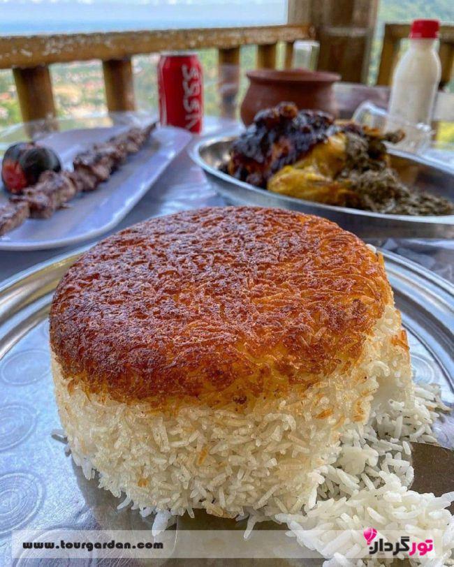 غذای رستوران خاور خانم